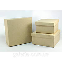 "Набор коробок Крафт""Квадратные""3шт.(код 02841)"