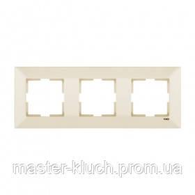 Рамка 3-я горизонтальная Viko Meridian слоновая кость