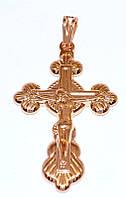 Крестик фирмы MAR, позолота с красным оттенком. Высота крестика: 4,2 см. Ширина 23 мм