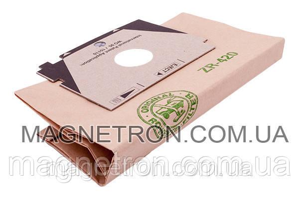 Мешок бумажный (5шт) с выходным микрофильтром для пылесоса Rowenta ZR420, фото 2