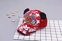Детская кепка с ушками Микки .