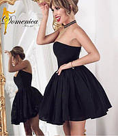 Шикарное пышное вечернее платье с открытыми плечами и шнуровкой на спине