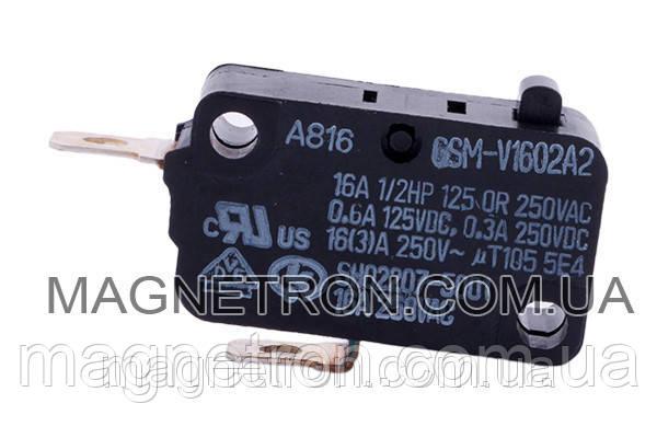 Микровыключатель GSM-V1602V2 для микроволновой печи Samsung 3405-000178, фото 2