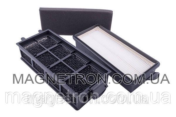 Комплект фильтров (HEPA + поролоновый + губчатый (контейнера) для пылесоса Vitek VT-1863BK, фото 2