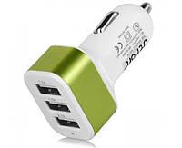 Автомобильный Адаптер Car Charger 3 USB Переходник от Прикуривателя