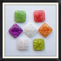 Бусины Crackle Ромб плоский 3*3*0,6 см