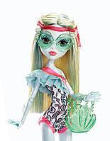 Кукла Монстр Хай серии пляжная вечеринка Лагуна Блю в купальнике, Monster High Beach Beasties Lagoona Blue