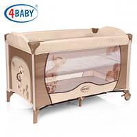 Детский манеж-кровать 4baby Vegas 2 уровня (Beige)