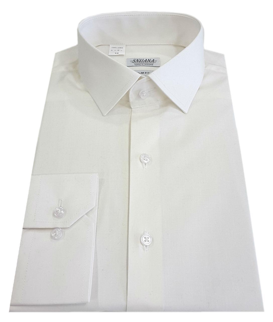 Рубашка мужская айвори №10-12к.  40-100 V28