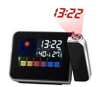 Часы метеостанция 8190 проектором времени