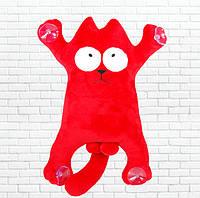 Детская мягкая игрушка,сувенир кот, красный