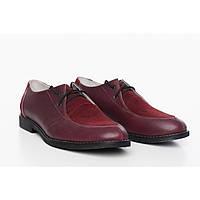 Женские комбинированные туфли Бордо