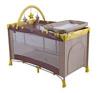 Кровать-манеж PENNY 2 LAYERS PLUS для детей (2 уровня, сумка, мобиль, пеленатор, 124 х 64 х 72 см) ТМ Lorelli (Bertoni)