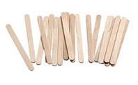 Шпатель деревянный одноразовый для воска узкий (для лица), 50шт