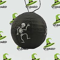 Декор подвесной (20см) черный со скелетом, фото 1