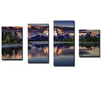 Картина для декора Гора у озера