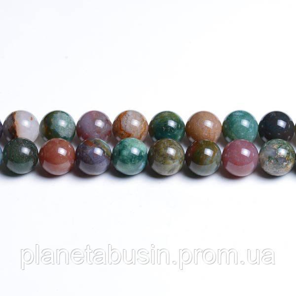 8 мм Фантазийная Яшма, CN192, Натуральный камень, Форма: Шар, Отверстие: 1мм, кол-во: 47-48 шт/нить