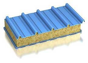 Кровельные сэндвич панели 100 мм. с минеральной ватой RAL/RAL