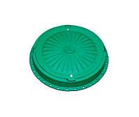 Люк канализационный полимерный с замком, Ø750мм. 5т, зелёный