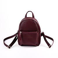 Бордовый рюкзак М124-38 маленький женский молодежный