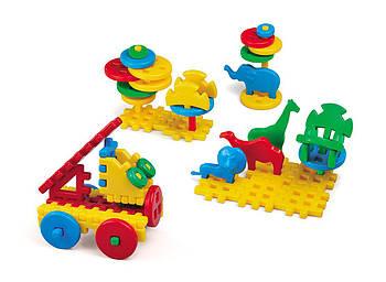 Конструктор дитячий MIX 50 елементів. Виробництво Польща. Гарантія якості. Швидка доставка