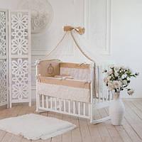 Детский комплект постельного белья  Family Kindom кофейный 6 единиц