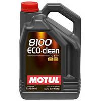 Motul 8100 ECO-CLEAN 0W-30 - синтетическое моторное масло - 5 л.
