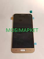 Дисплейний модуль (дисплей + сенсор) Samsung j120 original золотий