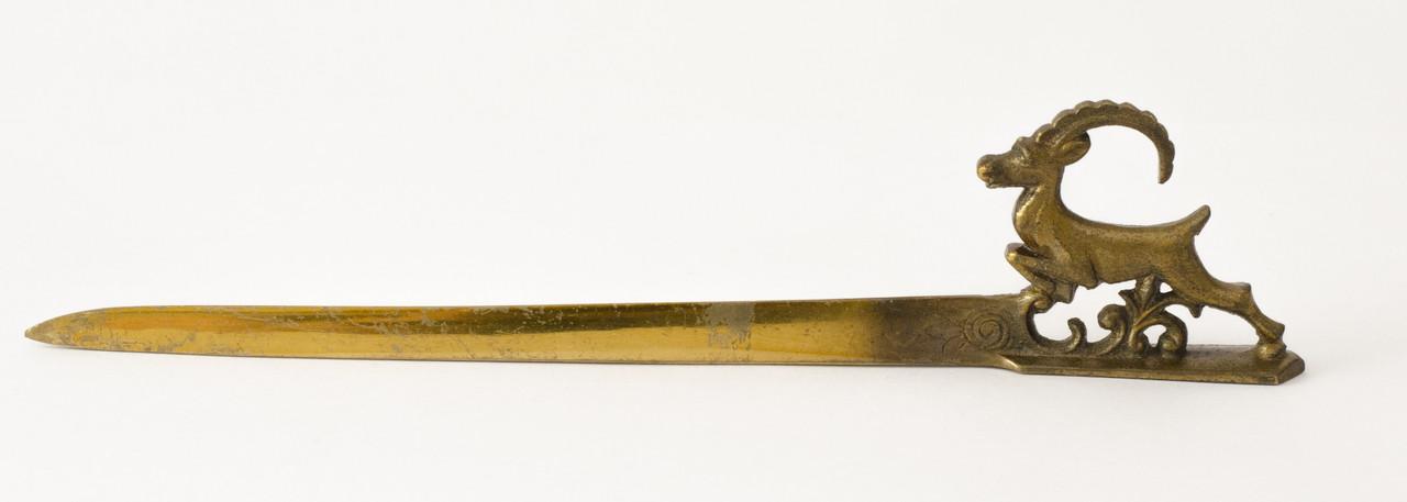 Старый нож для вскрытия писем, латунь, Англия