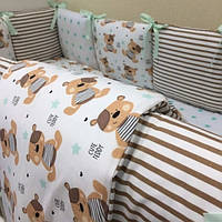 Детский комплект постельного белья  Бейби дизайн цвет мишки 7 предметов