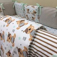 Детский комплект постельного белья  Беби дизайн цвет мишки 6 единиц