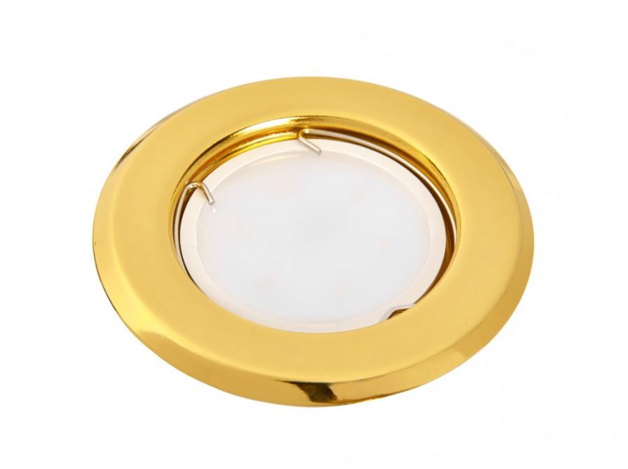 Светильник 50Вт MR16 G5.3 врезной неповоротный HL160011 золото, Delux. АКЦИЯ НА ОСТАТОК!