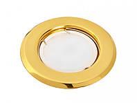 Светильник 50Вт врезной неповоротный HL16001 золото, Delux