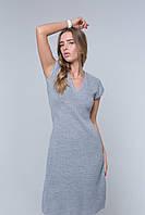Женское повседневное вязаное мини платье. Летнее