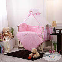 Детский комплект постельного белья  Golden Baby цв.розовый 7 предметов