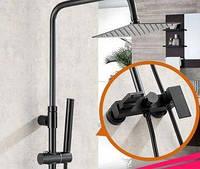 Стойка колона в ванную со смесителем и верхним душем 0227, фото 1