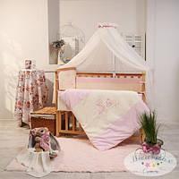 Детский комплект постельного белья  Ангел цвет розовый 6 предметов