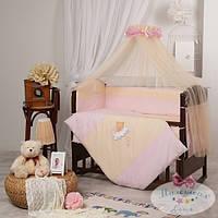 Детский комплект постельного белья  Маленькая Соня цвет розовый 7 предметов