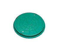 Люк канализационный, полимерный садовый, Ø740мм. 2т, зелёный