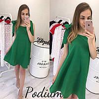 Зелёное платье с бантами