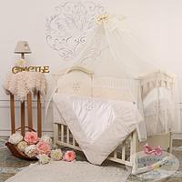Детский комплект постельного белья  Версаль цвет шоколадный 6 предметов