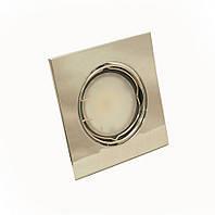 Светильник 50Вт врезной поворотный HDL16009 хром, Delux