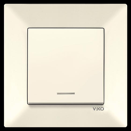 Выключатель с подсветкой VIKO Meridian Крем (90970219)