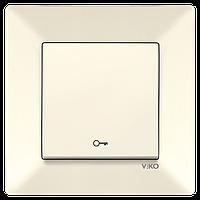 Кнопка дверного замка VIKO Meridian Крем (90970205)