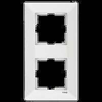 Двойная вертикальная рамка VIKO Meridian Белый (90979002)