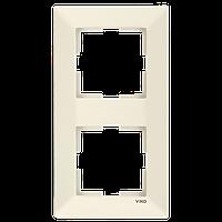 Двойная вертикальная рамка VIKO Meridian Крем (90979012)