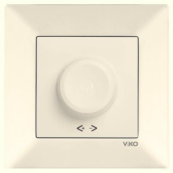 Светорегулятор 600W R VIKO Meridian Крем (90970220)