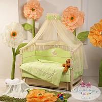 Карман на кроватку Teddy цвет салатовый