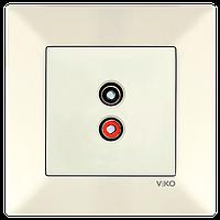 Аудиорозетка для динамиков VIKO Meridian Крем (90970237)