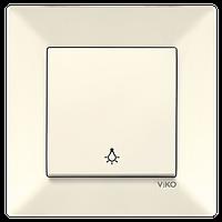 Кнопочный выключатель VIKO Meridian Крем (90970203)